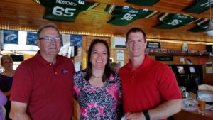 "Patrick, Lisa, and Ryan at the ""Business After 5"" host by Champions Riverside Resort Bar & Grille"