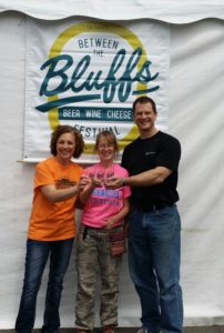 "Pictures from volunteering at the ""Between the Bluffs Beer, Wine, & Cheese Festival"","